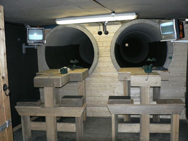 The shooting range calton moor range for Indoor shooting range design uk
